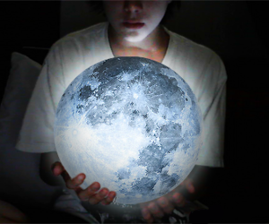 moon, photography, and boy image