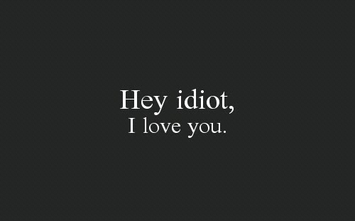 quote, text, and hey idiot image