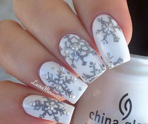 christmas, nails, and snow image