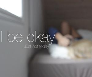 bed, sleep, and depressing image