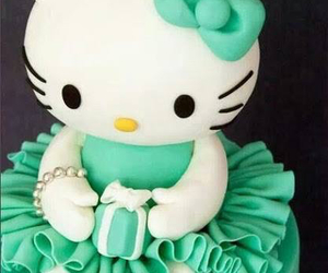 cake, cute, and hello kitty image