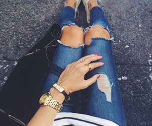 fashion, jeans, and legs image