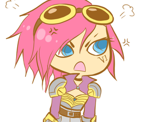 VI and league of legends image