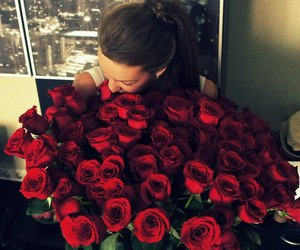 rose, girl, and love image