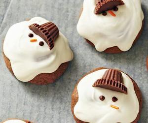 food, christmas, and snowman image