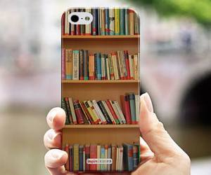 book, case, and iphone image