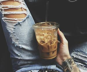 coffee, jeans, and car image