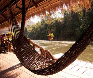 relax, hammock, and summer image