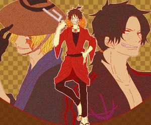 ace, sabo, and monkey d luffy image