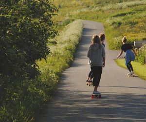 green, longboard, and summer image