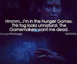 katniss, funny, and the hunger games image