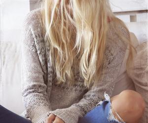 blonde, denim, and hollister image