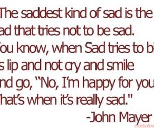 sad, john mayer, and quote image