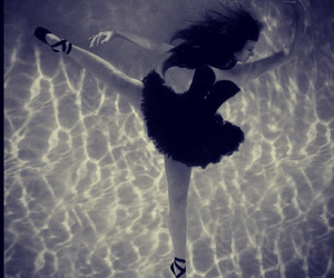ballet, water, and girl image