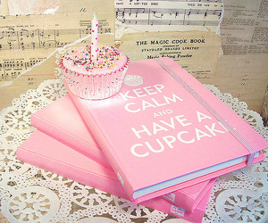cupcake, pink, and keep calm image