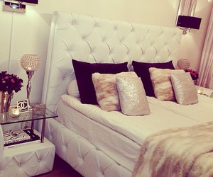 bedroom, decor, and mirror image