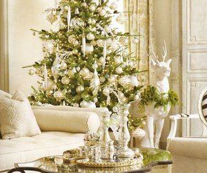 christmas, white, and christmas tree image