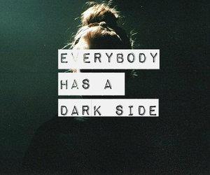 dark, dark side, and side image
