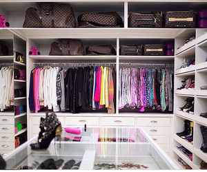 closet, girl, and room image