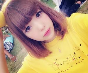 girl, kawaii, and pikachu image