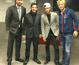 neymar, messi, and pique image