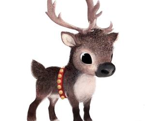 christmas, reindeer, and cute image
