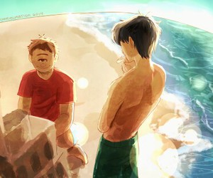 percy jackson, tyson, and brothers image