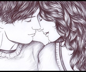 eskimo kiss, cute, and love image
