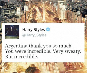 argentina, Harry Styles, and one direction image