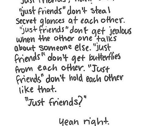 love, quote, and just friends image