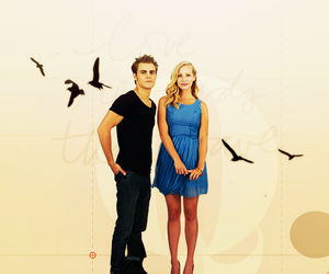 the vampire diaries, paul wesley, and steroline image
