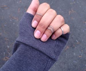 rings, nails, and pretty image