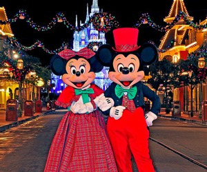 chrismas, minnie mouse, and main street usa image