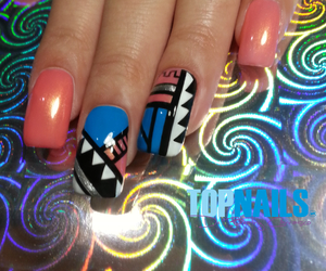 heart, nails, and style image