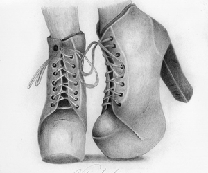 shoes, draw, and art image
