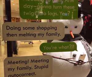 snowman, funny, and christmas image
