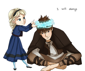 jack frost, elsa, and frozen image