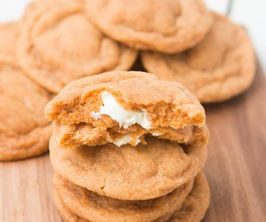 Cookies, white chocolate, and pumpkin image