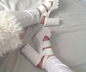 shoes, girl, and white image