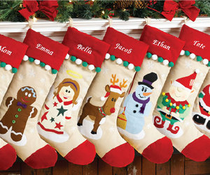 christmas and christmas stocking image