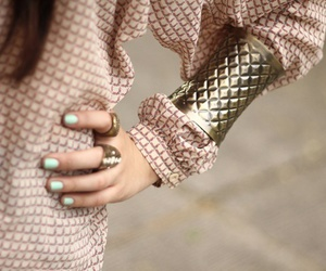 fashion, nails, and bracelet image
