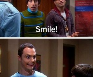 funny, smile, and sheldon image