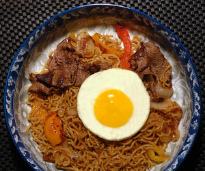 beef, bell pepper, and egg image