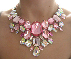 pink, jewels, and necklace image