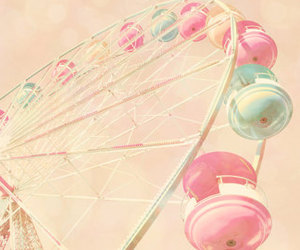 pastel and ferris wheel image
