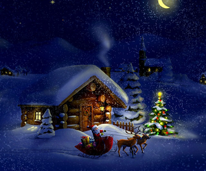 background, house, and snow image