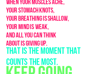 fitness, motivation, and keep going image