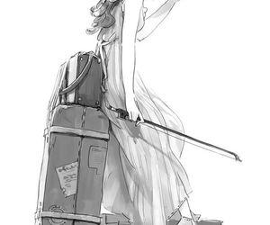 anime, girl, and violin image