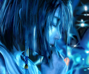 blue, yuna, and final fantasy x image