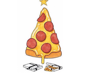 pizza, christmas, and food image